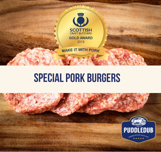 Award Winning Special Pork Burgers