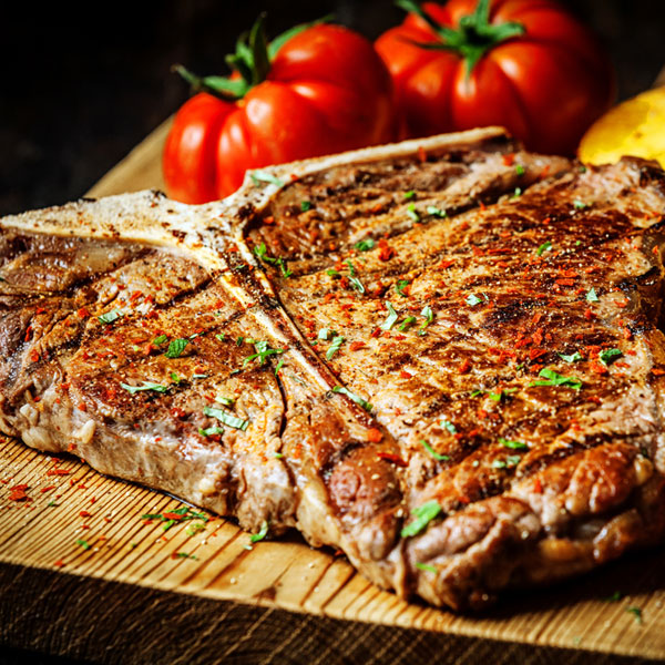 T-Bone Steak 550g approx per steak)