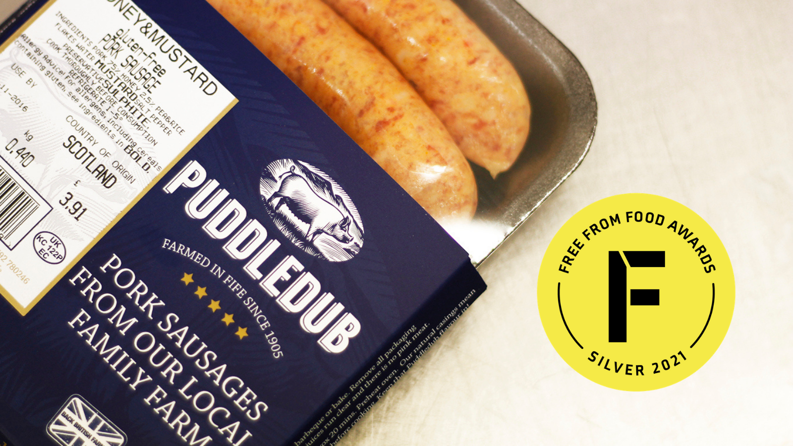 Puddledub Gluten-Free Sausages Scoop Medal at National Free From Food Awards