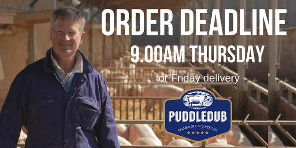 Revised Order Deadline - now 9am Thursday