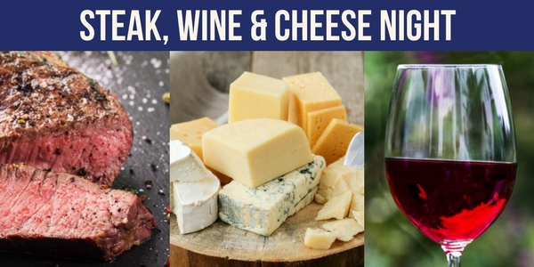 Steak, wine and cheese Tasting Night in Kirkcaldy