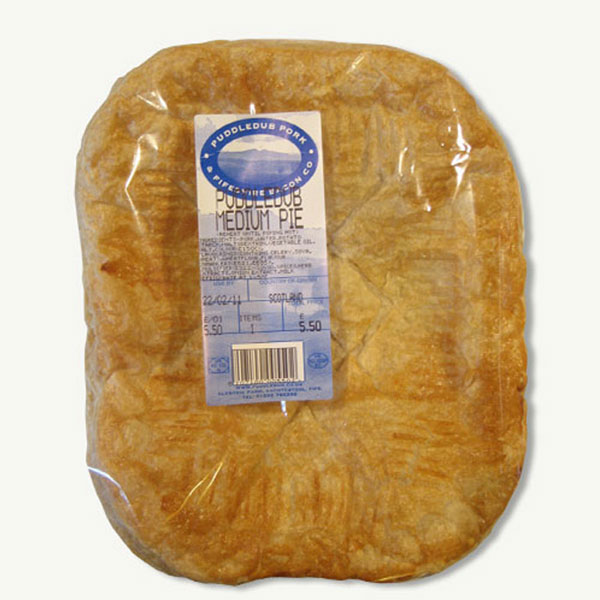 Puddledub  pork steak pie (medium)
