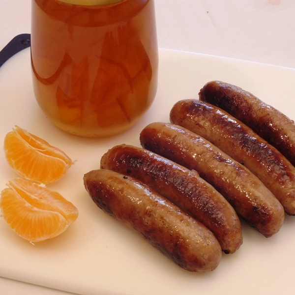 Orange and Marmalade Gluten Free Sausages