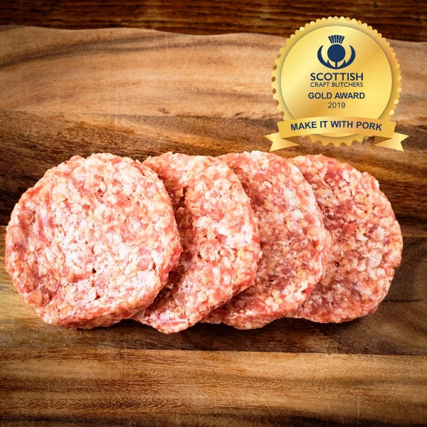 Pork burgers (pack of 4)