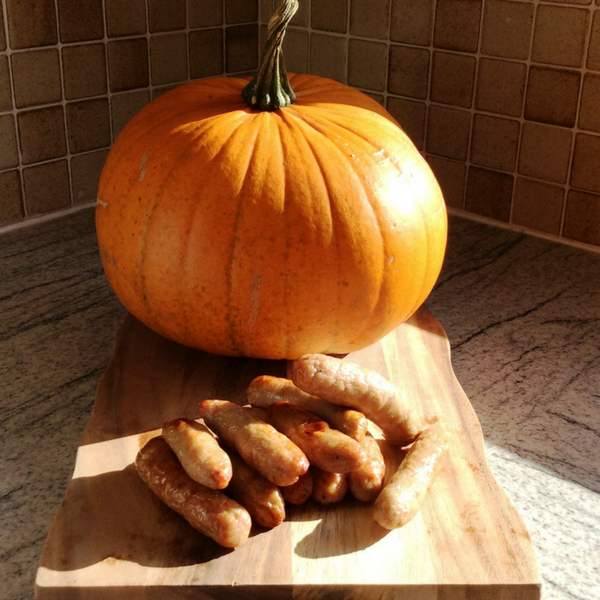 Spiced Pumpkin Sausages